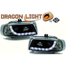 Coppia fari fanali anteriori TUNING SEAT IBIZA 95-99 neri con Dayline a LED