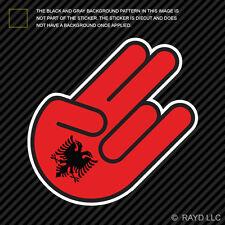 Albanian Shocker Sticker Die Cut Decal Self Adhesive Vinyl Albania ALB AL