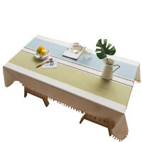 Home Rectangle Tablecloth Dust-Proof Table Cover for Kitchen Dinning Room