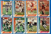 (8) 1991 Pacific Football Card Lot Montana Elway Marino Bo Jackson Sanders