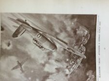 m17a4 ephemera 1920s book plate r a f blackburn skuas attack a german ship