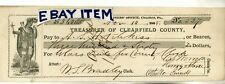 1868 Check Clearfield Pennsylvania Hutchkiss Henry Stone Othello Sneed Bradley