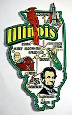 Illinois Jumbo State Map Fridge Magnet