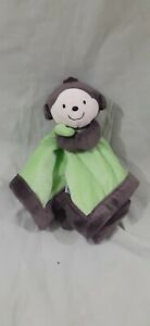 """Carter's Monkey Lovey Security Blanket Baby Toy 14"""""""