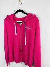 Hollister Women's Pink Full Front Zipper Hoodie Size M