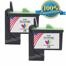 2 Pack Compatible 26 Tri- Color Ink Cartridge 10N0026 for Lexmark Z515 Z605 Z645