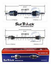 Pair of Front CV Joint Axle Shafts 25 Inboard Splines Fits Hyundai Elantra w/ AT