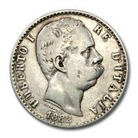 Kingdom of Italy Umberto I 2 Lire 1882 R KM-23 Fine