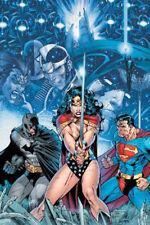 Jim Lee 2005 Batman Wonder Woman Superman Poster Infinite Crisis # 1 Undisplayed