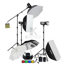 3x Godox DP400 400Ws Studio Flash Light Strobe Softbox 2.8m Stand Boom Arm Kit