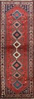 Tribal Traditional Geometric Hand-knotted Runner Rug Wool Oriental Carpet 3x8 ft