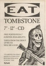 25/11/89Pgn21 Advert: Eat 'tombstone' The New Single On Fiction Records 7x5