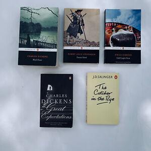 Book Bundle Penguin Classics Treasure Island Cold Comfort Farm Catcher Rye Bleak