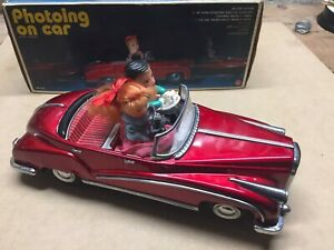 Photoing on car vintage toy