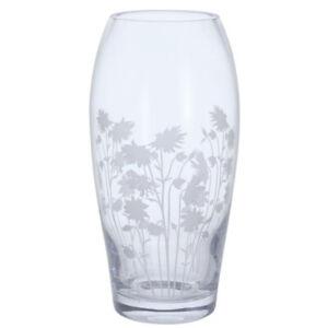 Dartington Bloom Vase Aquilegia Barrel Shape Hand Made Glassware 22cm Tall Boxed