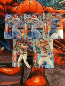 TOPPS CHROME baseball ST LOUIS CARDINALS LOT inc TOMMY EDMAN REFRACTOR