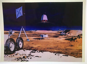 FUTURE SPACE / Orig 4x5 NASA Issued Transparency - Art Concept Mars Activity