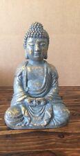 Buddha Statue Concrete Religion Gold  Garden Lawn Decor Peace Buddhism