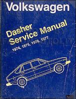 1975-1976-1977 VW Dasher Shop Manual 75-77 Volkswagen Volkswagon Repair Service