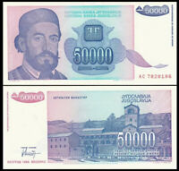 YUGOSLAVIA 50000 (50,000) Dinara, 1993, P-130, UNC World Currency