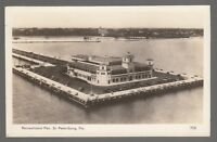 [49562] OLD REAL PHOTO POSTCARD (RPPC) RECREATIONAL PIER ST. PETERSBURG, FLORIDA