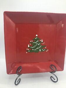 "Christmas Tree Square Coupe Platter 10.5""  Waechtersbach German Stoneware UEC"