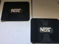 Rear Utility Rubber Floor Mats  Nos Logo in Gray