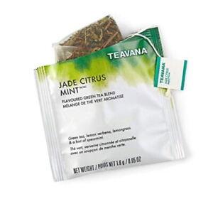 FRESH STOCK Starbucks Teavana Tea - Jade Citrus Mint - 50 Sachets No Box