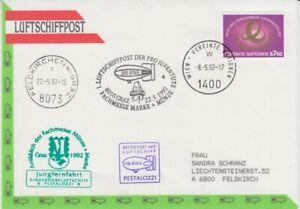 Zeppelin - Luftschiff - Beleg   UNO Wien  1992