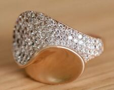 Solid 585 russian rose gold ring 14ct gold 14k rose gold ring