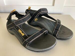 Teva 4141 Tanza Sport Sandals Black / Gray Men's Size 12