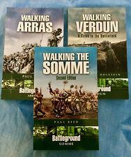 WALKING THE SOMME VERDUN ARRAS 3 Book Set WWI Battlefields Pen & Sword