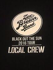 Zac Brown Blackout the Sun 2016 Tour Local Crew T-shirt Size XL