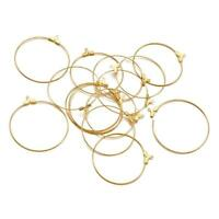 500pcs Brass Lever Back Hoop Earrings Settings Jewelry Making 15x10x1mm