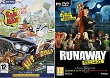 runaway trilogy USED           &          sam and max hit the road  NEW&SEALED