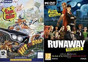 runaway trilogy USED  .......&.......  sam and max hit the road NEW&SEALED