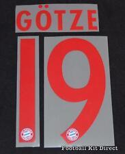 Bayern Munich Gotze 19 Football Shirt Name/Number Set 2015/16 Away