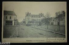 cpa 36 - CHABRIS - La place du Marché - 1904 - Indre - boutique Chollet tailleur