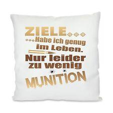 Favorite Man ® Pillow with Motif Decorative Cushion Model: goals I have enough...