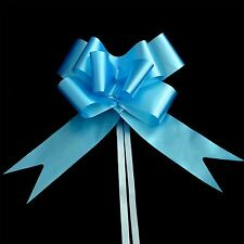 50mm 10 Light Blue Pull Bows Ribbons Car Wedding Florist Gift Party Decorations