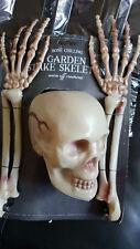 Halloween Skeleton Ground Breaker Stakes Glow In The Dark Outdoor Garden Prop