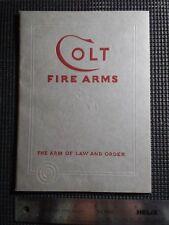 Original 1938 Colt Firearms Revolvers and Automatic Pistols Gun Catalog