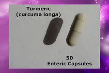 Turmeric Tumeric(Curcuma longa) 50 Enteric Capsules Delayed Release Natural Pure