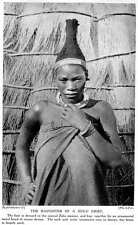 1913 The Daughter Of A Zulu Chief Conical Hair Dressing