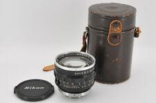 *EXC* Nikon NIPPON KOGAKU Nikkor-N 5cm (50mm) f/1.1 S Mount from Japan #0262