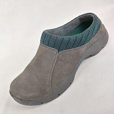 DANSKO Gray Suede Green Knit Slip Resist Clogs Shoes Women's Size 39 / 8.5