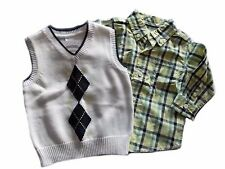 NWT Boy's Gymboree Easter Egg Hunt long sleeve shirt & sweater vest ~ 5 6 7 8