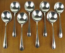 """8 x Gumbo Soup Spoons 6 3/4"""" Birks Regency Plate York silverplate silver"""