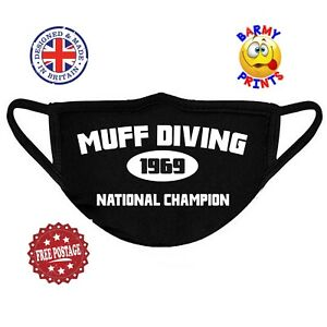M16 MUFF DIVING CHAMPION FUNNY RUDE FACE MASK COVERING Buy 2 Get 1 FREE
