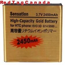 2450mAh Replacement Gold Sprint Battery For HTC Sensation EVO G14 G18 G213D 4G